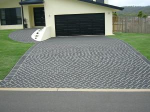 Stencilled Driveway